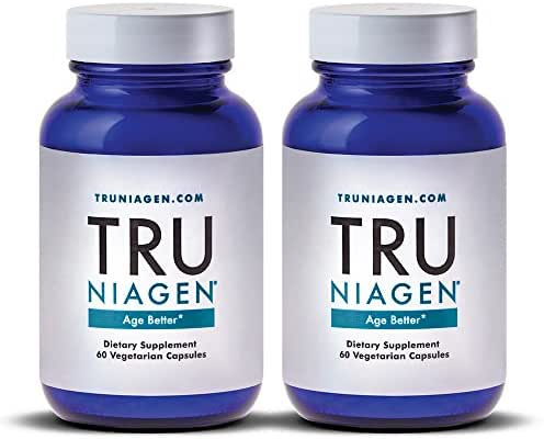 TRU NIAGEN Nicotinamide Riboside - Patented NAD Booster for Cellular Repair & Energy, 150mg Vegetarian Capsules, 300mg Per Serving, 30 Day Bottle (Pack of 2)