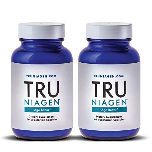 518ti7kVxSL - TRU NIAGEN Nicotinamide Riboside - Patented NAD Booster for Cellular Repair & Energy, 150mg Vegetarian Capsules, 300mg Per Serving, 30 Day Bottle (Pack of 2)