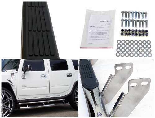 - 2003-2010 Hummer H2 Chrome Stainless Steel Running Boards Side Step Nerf Bar