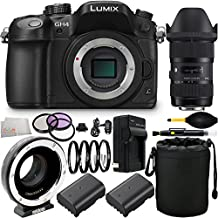 Panasonic Lumix DMC-GH4 Mirrorless Micro Four Thirds Camera + Sigma 18-35mm f/1.8 DC HSM Art Lens for Canon & Metabones T Speed Booster XL 0.64x Adapter for Canon EF-Mount Lens to Select Micro Four Thirds-Mount Cameras with 16PC Accessory Bundle.