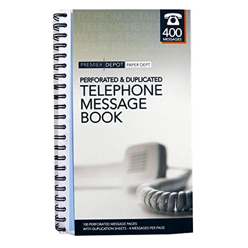Business Telephone Message Book, Perforated and Duplicated - 400 Messages by Premier Office