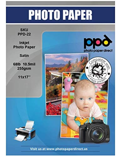 (PPD Inkjet Satin Luster Super Premium Photo Paper 11X17