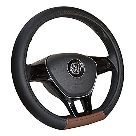Amazon Com Black And Brown Color D Ring Shape Car Steering Wheel