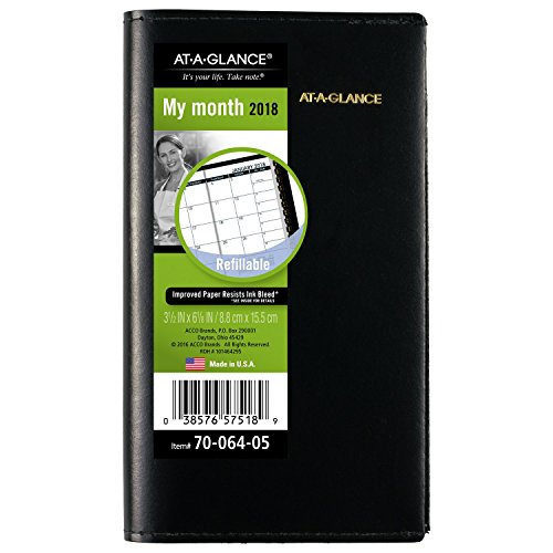 AT-A-GLANCE Monthly Planner, January 2018 - January 2019, 3-1/2