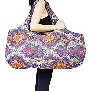 Well-Being-Matters 518tjG2foUL._SS300_ Aozora Yoga Mat Bag Large Yoga Mat Tote Sling Carrier with Pockets Fits Mats with Multi-Functional Storage Pockets Light…