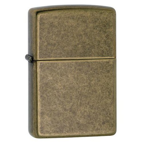 Zippo Antique Brass Finished Lighter (Brass Zippo Antique)