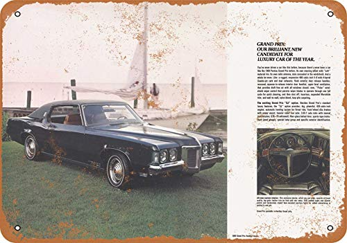 Wall-Color 9 x 12 Metal Sign - 1969 Pontiac Grand Prix Coupe - Vintage Look ()