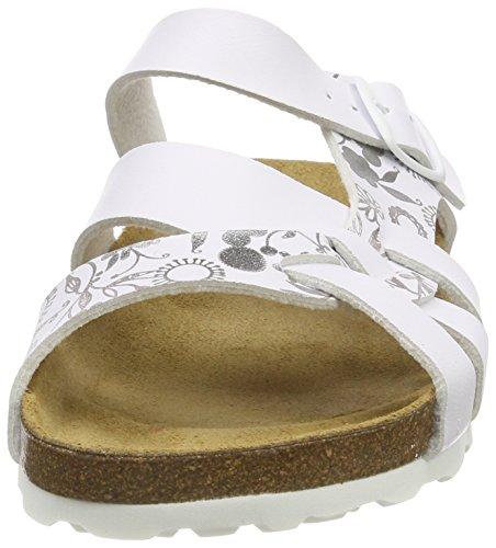 Flora Weiss Silber pantoufles basses Weiss Bioline blanc Silber Lico pour femmes 7qR55w