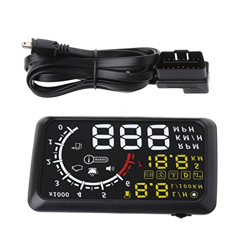 Goodqueen Auto HUD 5.5inch Screen OBDII Car Port Head-Up Display with Speeding Warning System
