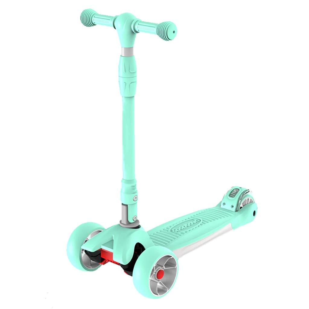 LFY Scooter Lampeggiante verde - Adatto per Bambini 3-15 Anni