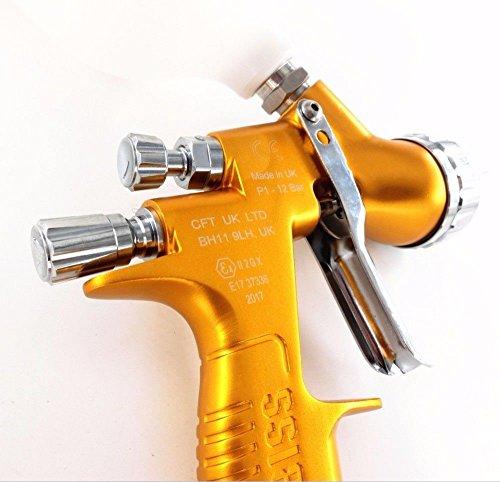 devilbes Professional Sparyer GTI PRO LITE Gold 1.3mm Nozzle w/t Cup TE20 Cap Car Paint Tool Pistol Spray Gun by devilbes (Image #2)
