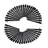 Continvison 50pcs Adjustable Micro Flow Drip Watering Irrigation Kits System Self Plant Garden Hose Watering Kits Black 13cm (50pcs dripper)