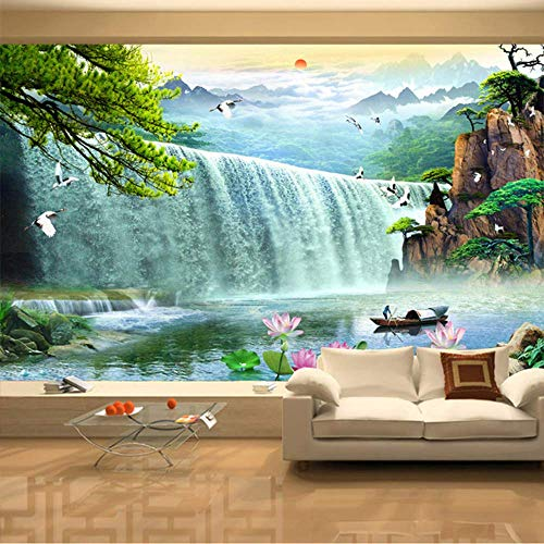 Pbldb 3D Waterfalls Nature Scenery Mural Wallpaper Living Room Tv Sofa Study Background Wall Paper Home Decor-250X175Cm