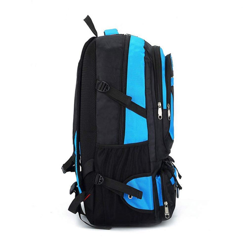 ZHJWHWABBAO Outdoor Travel Backpack Men and Women Mountaineering Bag Backpack Large Capacity Backpack 58 39 22cm Multi-Color Optional Color : Blue