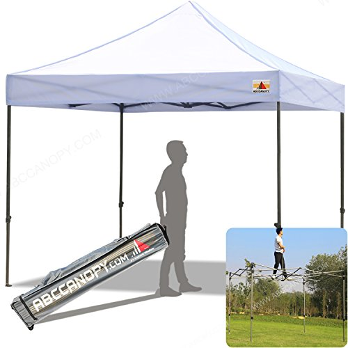 ABCCANOPY (18+Colors) Commercial 10X10 FT Outdoor Pop Up Portable Shelter Instant Folding Canopy With Roller (Commercial Canopy Tent)