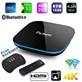 Streaming Media Players Best Deals - 2016 NEW Richino [2GB/16GB/4K] Quad-Core A53 Android 5.1 Smart TV BOX Amlogic S905 Streaming Media Player Bluetooth, 2.4G/5.0G double wifi+ I8 Wireless Keyboard