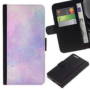 All Phone Most Case / Oferta Especial Cáscara Funda de cuero Monedero Cubierta de proteccion Caso / Wallet Case for Apple Iphone 6 PLUS 5.5 // estrellas del universo nubes cosmos rosa púrpura