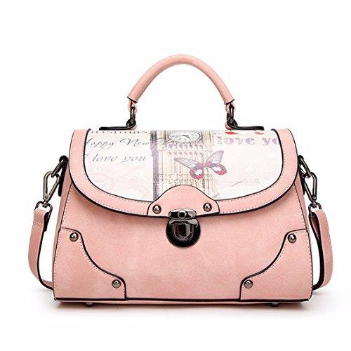 Bolso personalizado moda bolso bolso de hombro simple, gris Rosa