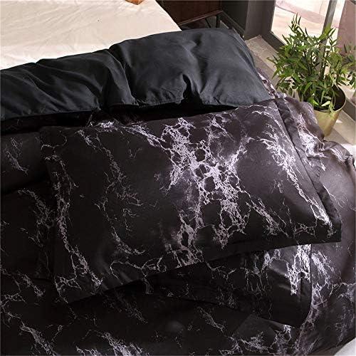 Juego de Cama Gray Stone Ripple Funda nórdica y Funda de Almohada 100% Juego de sábanas de poliéster con Cremallera Oculta (Gris, 150x200 cm