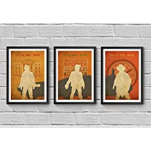 Back to the Future Trilogy Minimalist Poster Set A Robert Zemeckis Alternative Movie Print Michael J. Fox Marty McFly Christopher Lloyd Illustration Home Decor Artwork Wall Art Hanging Cool Gift