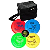 Innova Disc Golf Set with 4 Discs and Starter Disc Golf Bag - DX Distance Driver, Fairway Driver, Mid-Range, Putter and Mini Marker Disc
