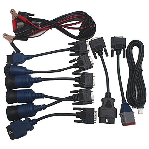9pcs Full Set Cables for Nexiq Usb Link 125032 Diesel Truck Diagnostic Connector Cables ()