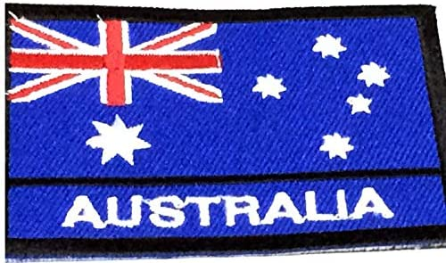 Australia National Flag Embroidered Patch Iron on Sew On Badge For Clothes etc
