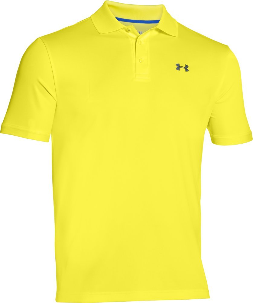 Under Armour Men's Performance Polo, Sunbleached (771)/Stealth Gray, Large