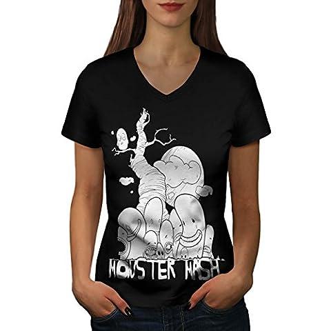 Cute Monster Mash Comic Smiley Women S V-Neck T-shirt   Wellcoda (The Monster Mash Pixie)