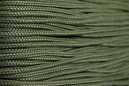95 Cord - Moss - Type 1 Cord - 100 Feet on Plastic Winder - Bored Paracord Brand