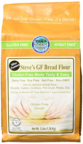 Authentic Foods Steve's Gluten Free Bread Flour Blend, 3 Pound