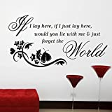 SOLEDI Wall Art Sticker Quote Wall Decal for Living Room Bedroom Kitchen