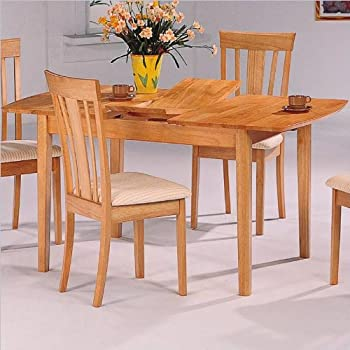 Amazon.com - Coaster Dinner Room Furniture Natural Finish Dining ...