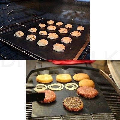 Lot of 2 Mats Easy BBQ Grill Mat Bake NonStick Grilling Mats