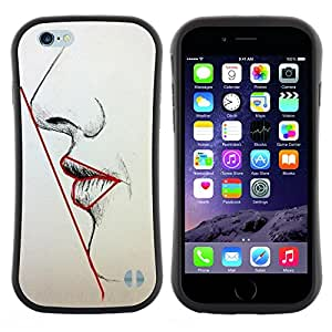 "Pulsar iFace Series Tpu silicona Carcasa Funda Case para Apple iPhone 6+ Plus / 6S+ Plus (5.5 inch!!!) , Simetría Mujer Labios Nariz Cara Arte Belleza"""