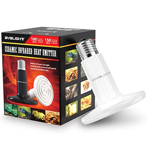 Byb 100w 110v Ceramic Infrared Heat Emitter Brooder Coop Pet Infrared Lamp Bulb Pets House Pro