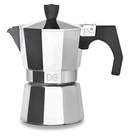 Cafetera de aluminio Express con manija de 1/2 taza - 9 tazas de ...