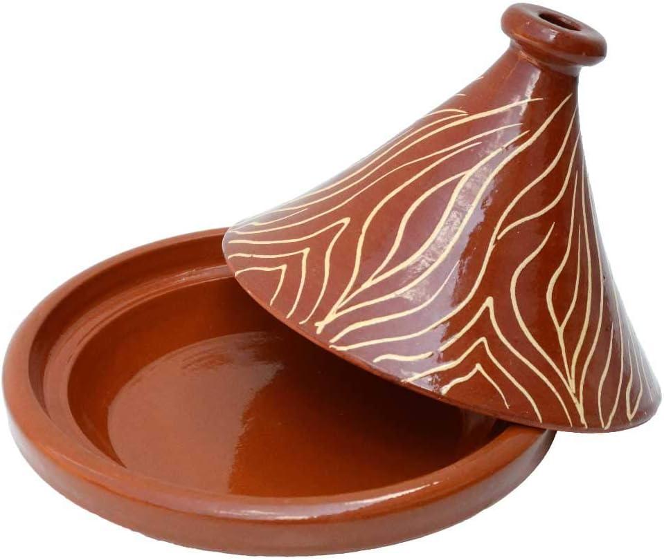 L ́Orient Tajine Tontopf NAR en marocain /émaill/ée /Ø 30 cm pour 2 /à 4 Personnes pour la Cuisine Marocaine Fabriqu/é et d/écor/é /à la Main