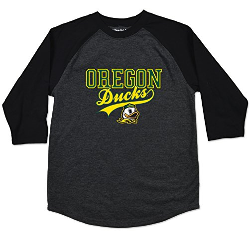 College Kids NCAA Oregon Ducks Youth Home Run Raglan Tee, Size 14-16/Large, (Oregon Ducks College)