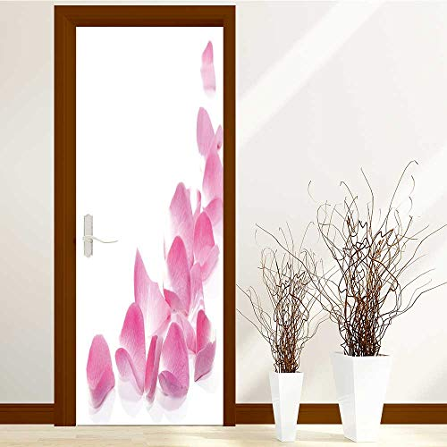 SCOCICI1588 New Art Decor Home Creative rose petals border Privacy Protection W38.5 x H77 INCH by SCOCICI1588