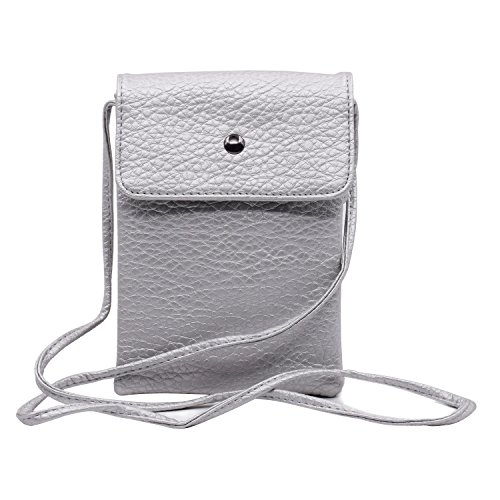 Small Purse Wallet Shoulder 4 Silver Durable Mini Cute Women Bag Witery Cellphone Pouch Black Soft Crossbody Leather profound Strap Bags With qxOXY6wp