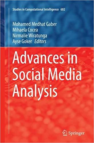 Book Advances in Social Media Analysis (Studies in Computational Intelligence)