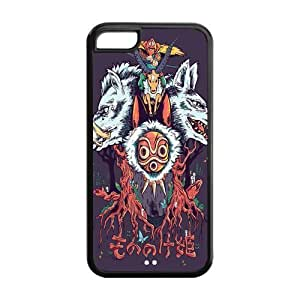 Princess Mononoke Solid Rubber Customized Cover Case for iPhone 5c 5c-linda541