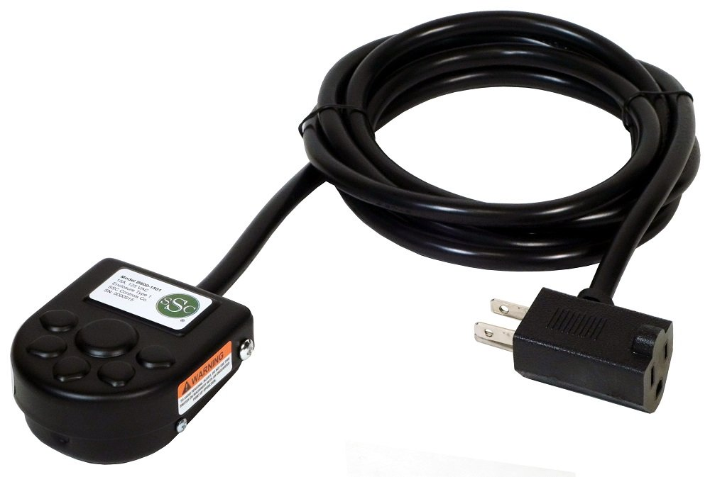 SSC Controls B800-1501 Foot Switch, Momentary, Single Pedal, 8-ft Cable with Piggyback Plug (3-Pronged)