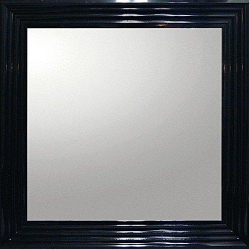 ユーパワー Big Mirror デコラティブ大型ミラー シャープ/正方形 ブラック BM-16021 B01N911HZ5 W71.5xH71.5cm ブラック ブラック W71.5xH71.5cm