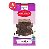 Miss Jones Baking Organic Fudge Brownie Mix, Non-GMO, Vegan-Friendly: Rich Cocoa (Pack of 6)
