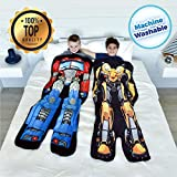 Blankie Tails | Transformers Blanket - Double Sided Super Soft and Cozy Minky Fleece Blanket, Machine Washable Fun No Zipper Transformer Wearable Blanket for Kids
