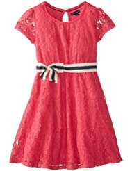 Tommy Girl 女大童连衣裙 红色$24.99 Lace Fit-and-Flare Dress