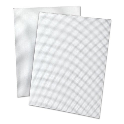 Ampad 20lb Quadrille Pad w/8 Squares/inch, Letter, White, 50 Sheets/Pad by Ampad