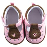 Luvable Friends Girl's Cut-Out Shoe for Baby, Flower, 6-12 Months